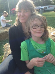 Selene and family celebrate Burlington's local food movement at the Eat by Northeast festival at Oakedge Park.